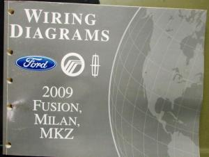 2009 Ford Mercury Lincoln Electrical Wiring Diagram Manual Fusion Milan MKZ