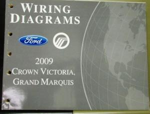 2009 Ford Mercury Electrical Wiring Diagram Manual Crown
