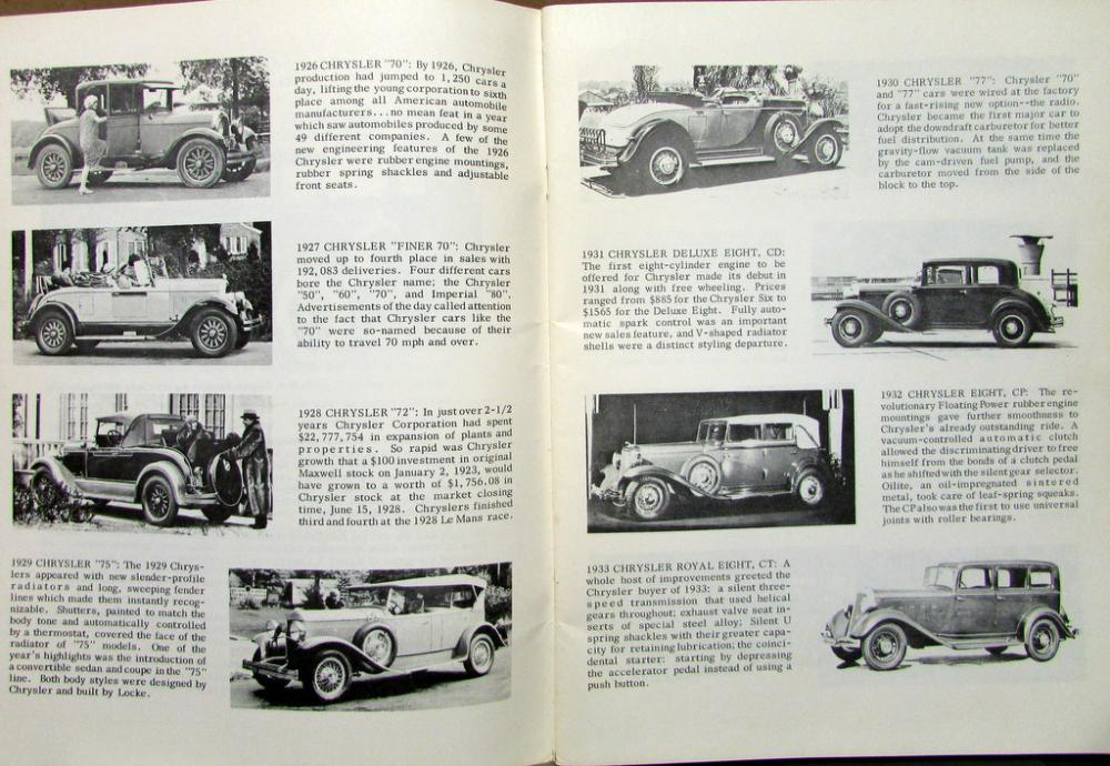 Pictoral History Chrysler Cars 1914 Thru 1969 Imperial Dodge     Pictoral History Chrysler Cars 1914 Thru 1969 Imperial Dodge Plymouth DeSoto