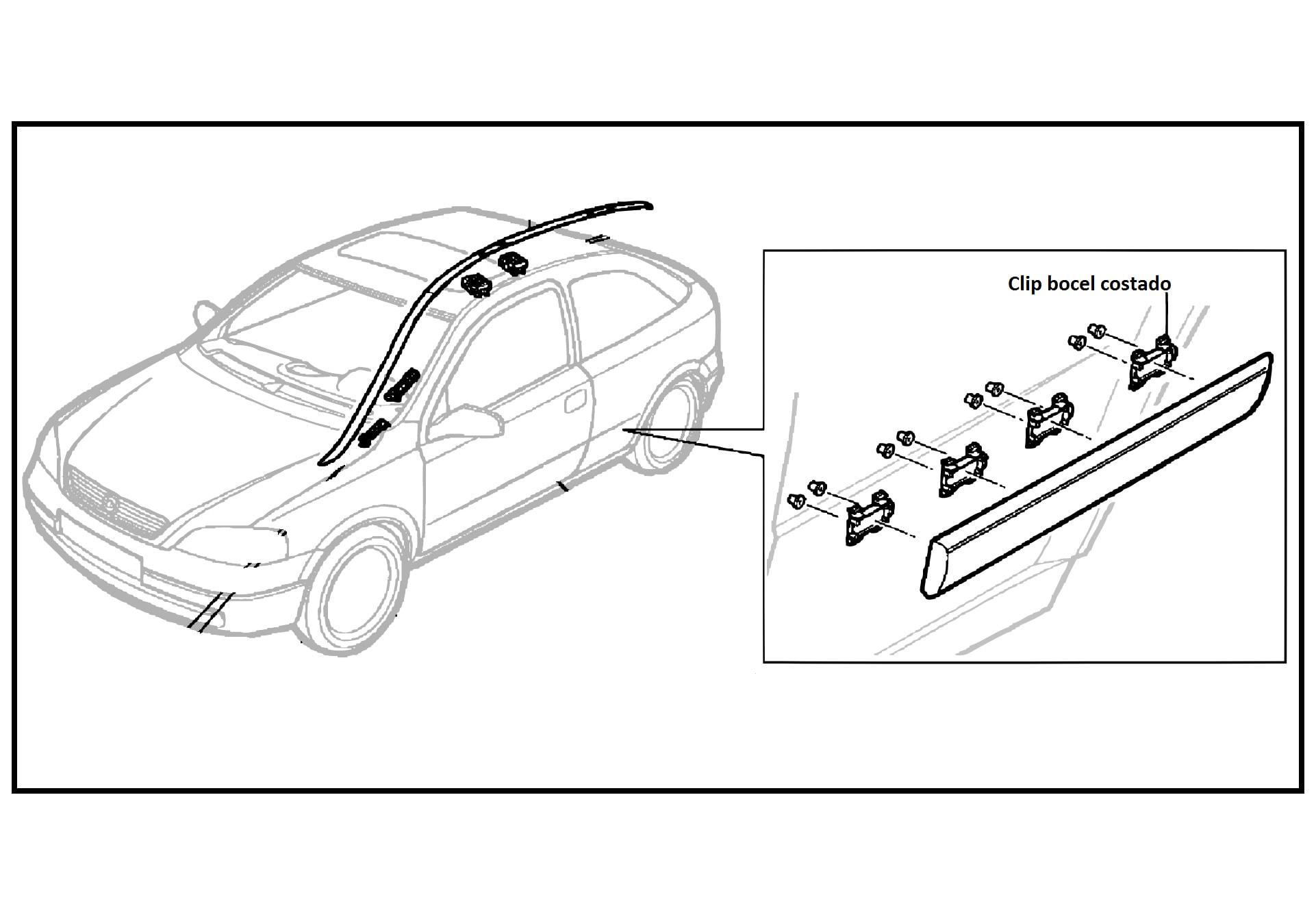 Clip Pin Moldura Bocel Costados Chevrolet Astra 2 Puertas