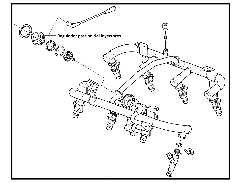 Regulador Presion Riel Inyectores Chevrolet Avalanche 5 3