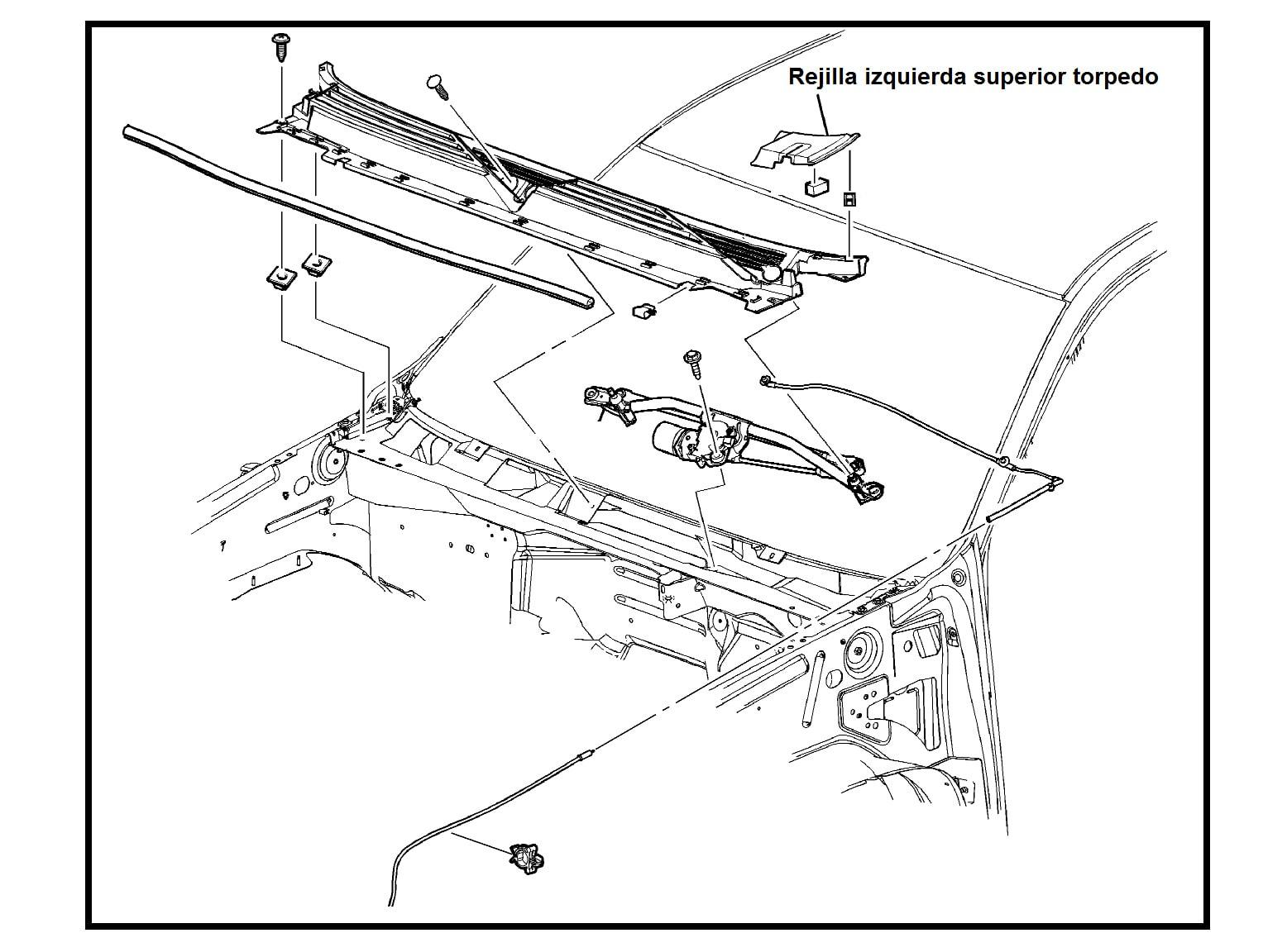 Esquinera Izquierda Rejilla Superior Torpedo Chevrolet