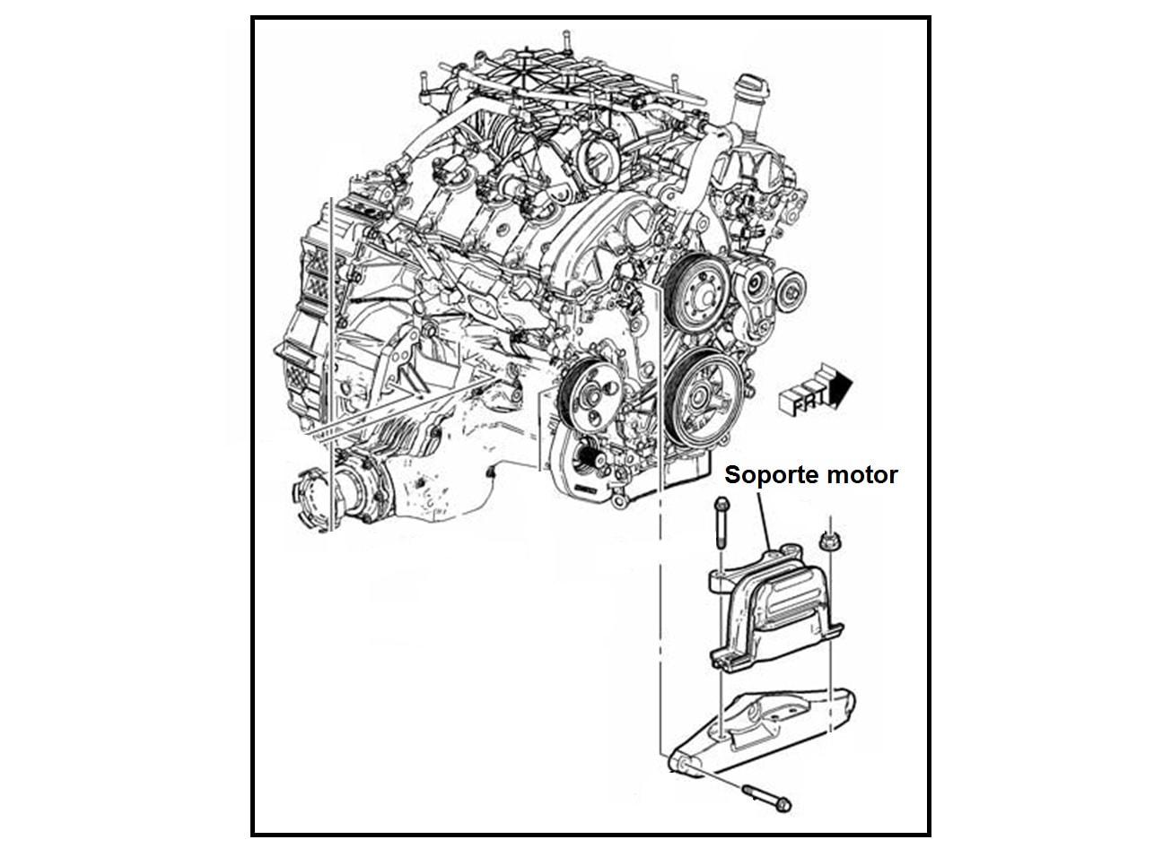 Soporte Motor Delantero Derecho Chevrolet Captiva 3 0 3 6