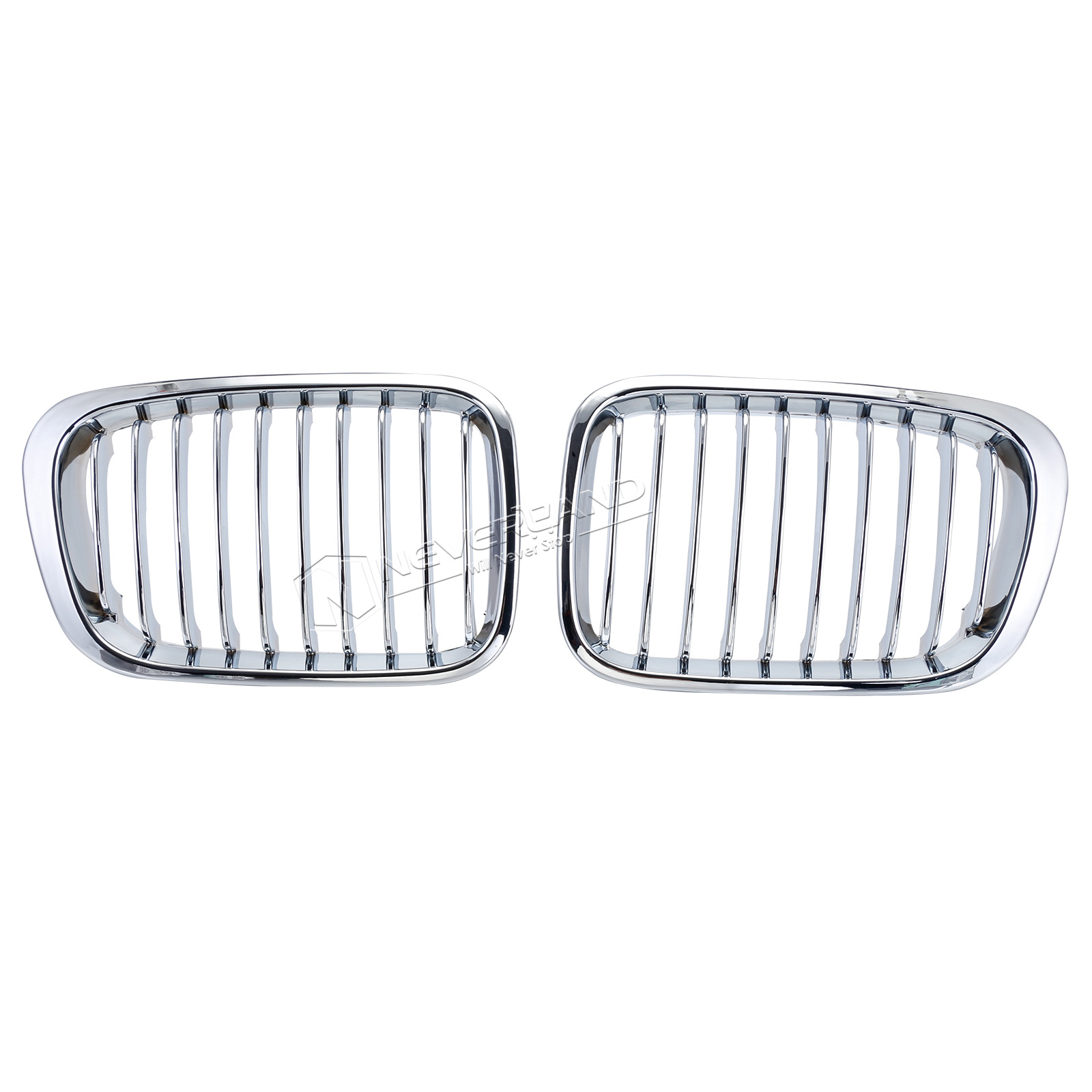 Chrome Front Kidney Grille For Bmw E46 3 Series 4 Door