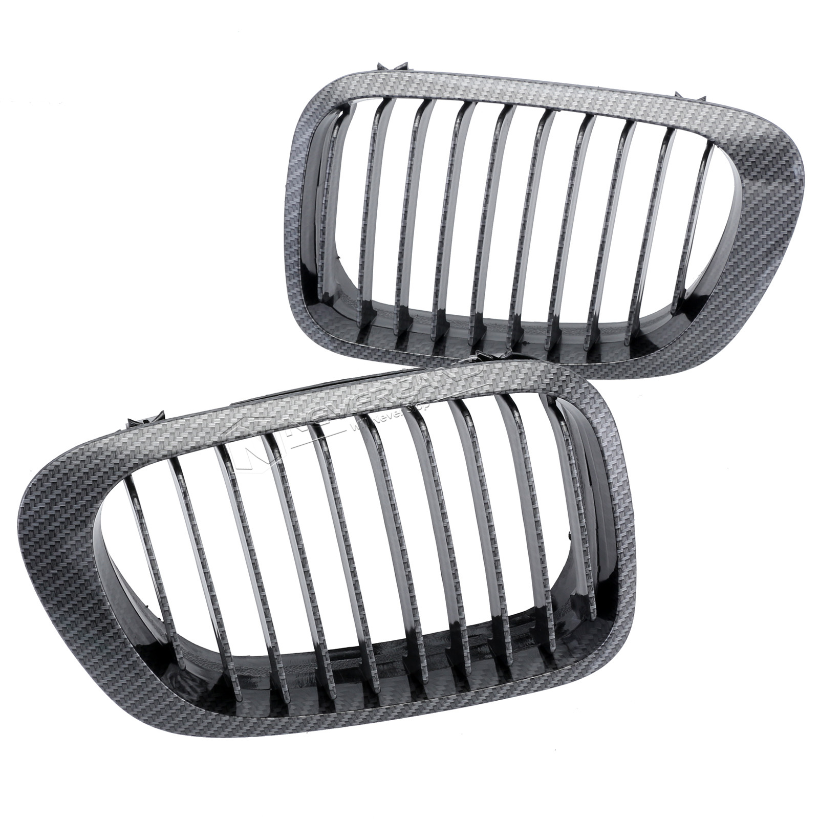 Pair Front Bumper Kidney Grille For Bmw E46 2d 3 Series 98