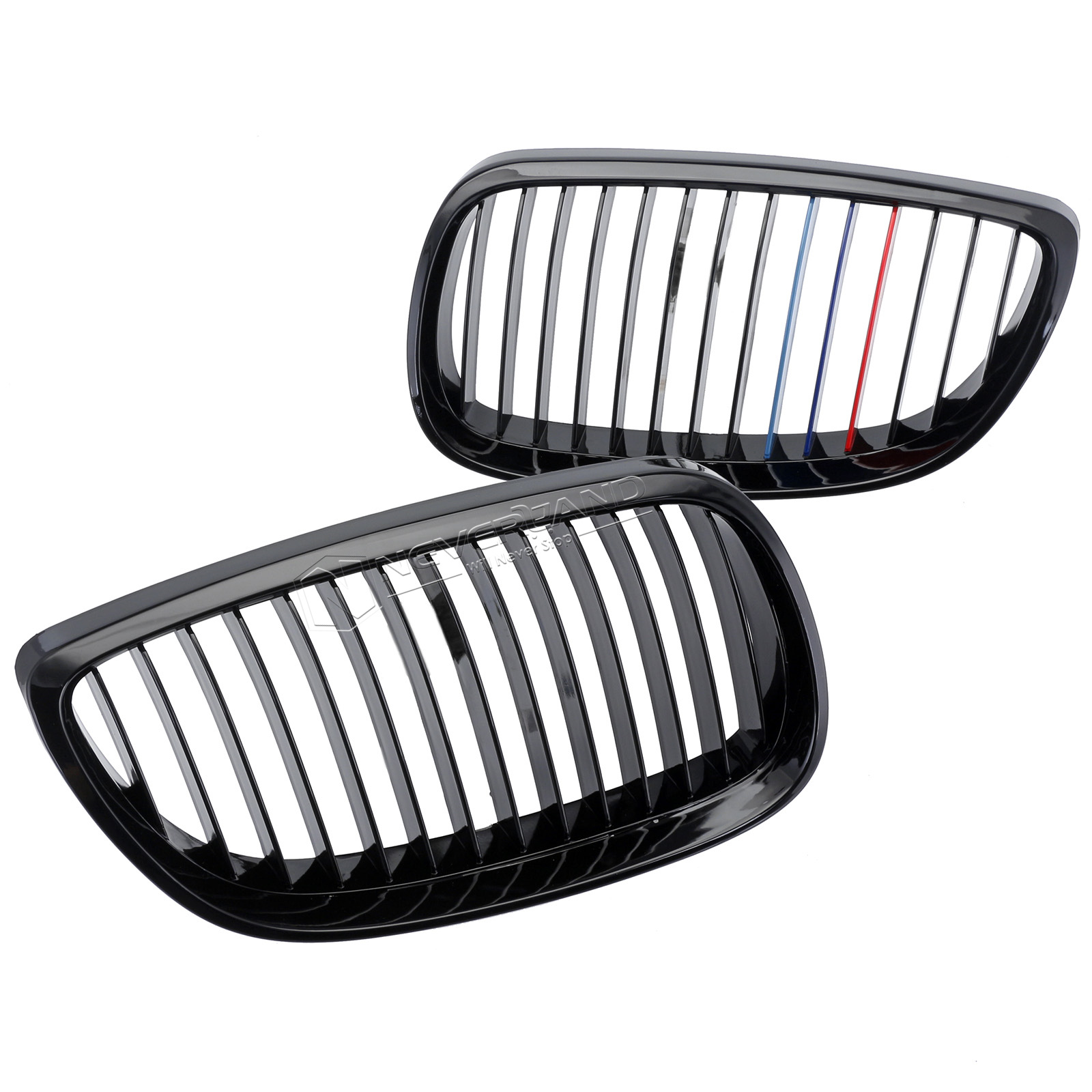 Gloss Black M Color Kidney Grill Grille For Bmw E92 E93 3
