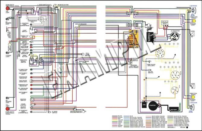 14512c  1963 chevrolet truck full colored wiring diagram