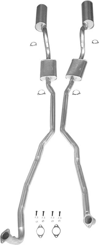 me1722 1970 challenger 340 exhaust system