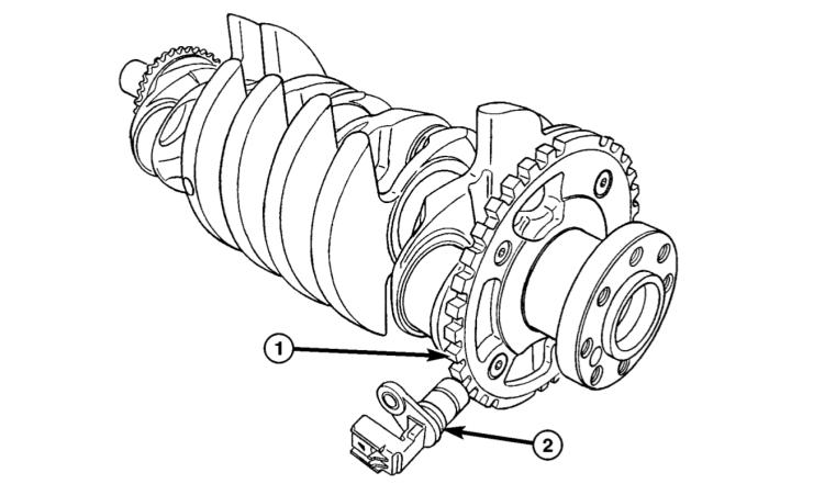 Where do I find the crankshaft position sensor 2.0/2.4 Dodge Stratus.