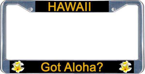 Hawaiian Flower License Plate Frames