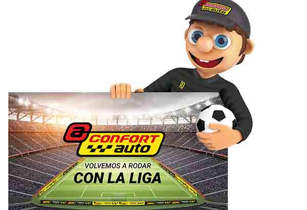 Confortauto vuelve a rodar con La Liga de fútbol