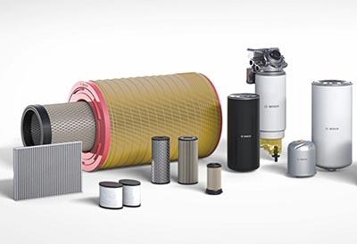Filtros Bosch fiables en carretera para vehículos industriales