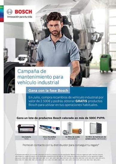 Promoción Bosch para vehículo industrial