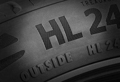 Primer neumático con código HL de índice extra de carga
