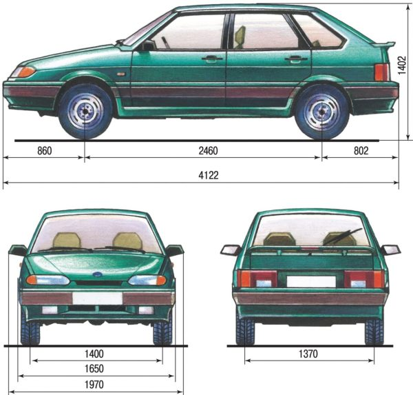 Технические характеристики автомобилей. ВАЗ 2115 (Самара)