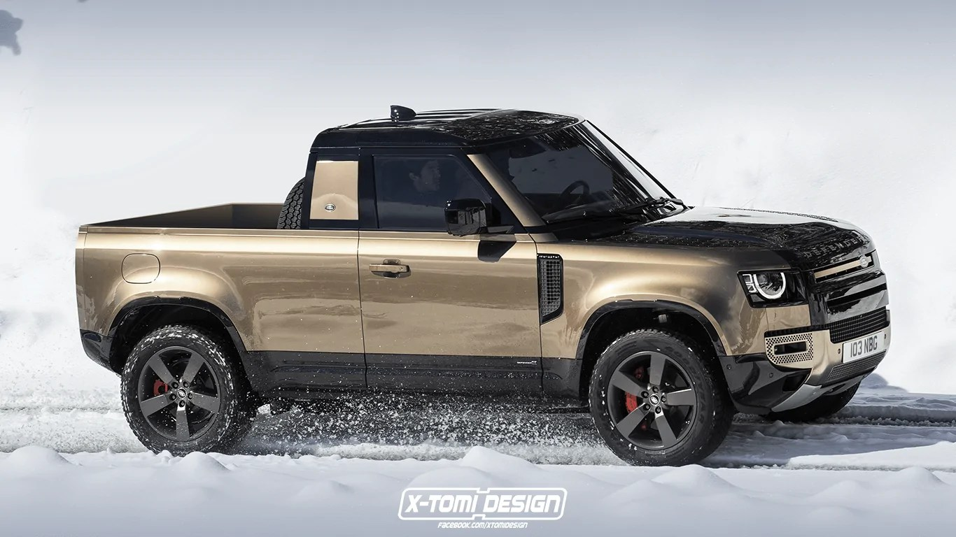 Nuovo Land Rover Defender 2020, se fosse un pick-up