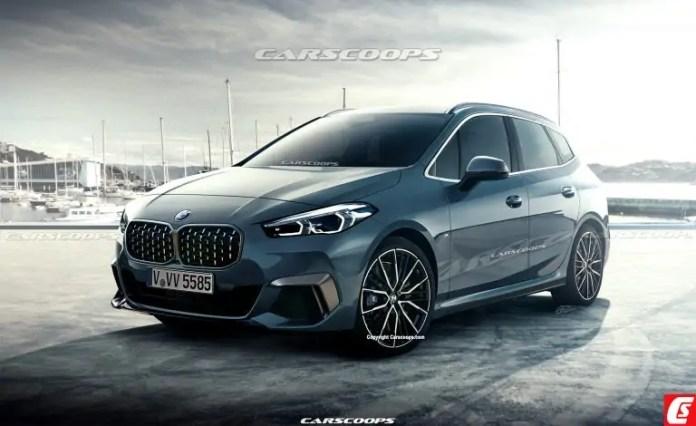 BMW Serie 2 Active Tourer 2021, Rendering e dettagli in Anteprima