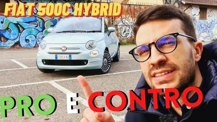 Nuova FIAT 500 IBRIDA: PRO e CONTRO dalla prova [VIDEO]