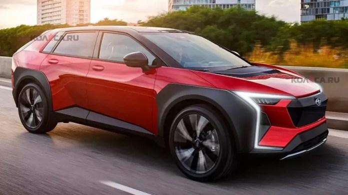 Subaru Elettrica 2022, i Rendering del SUV a batteria