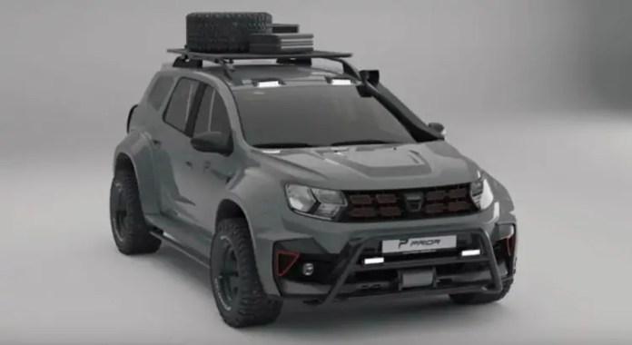 Dacia Duster 2021, in off-road estermo con Prior Design