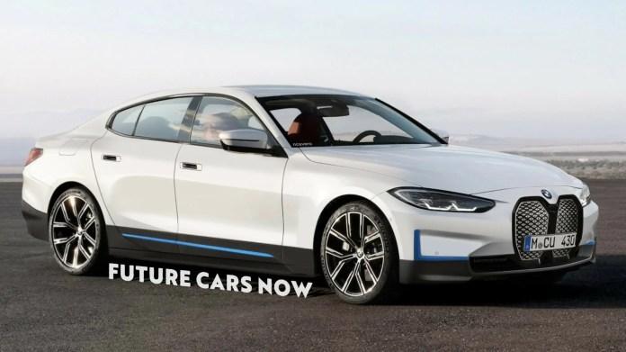 Nuova BMW i4 2022, Rendering e Anteprima elettrica