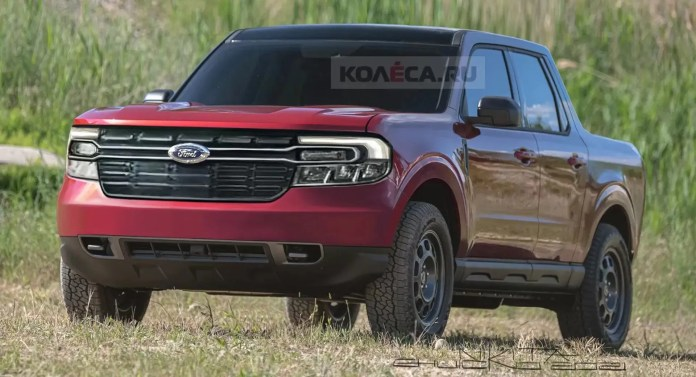 Nuovo Ford Maverick 2022, il pickup su base Bronco Rendering