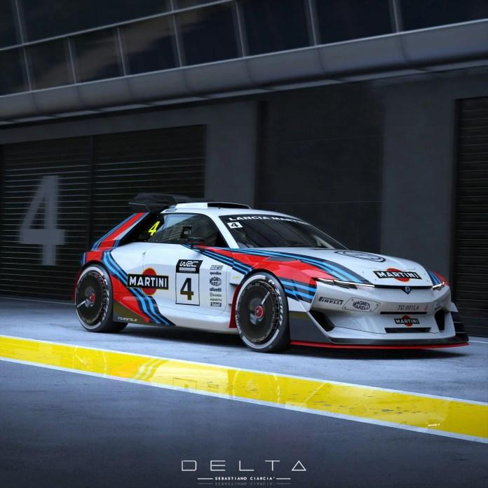 Nuova Lancia Delta Integrale 2025, il Rendering che sa di Storia
