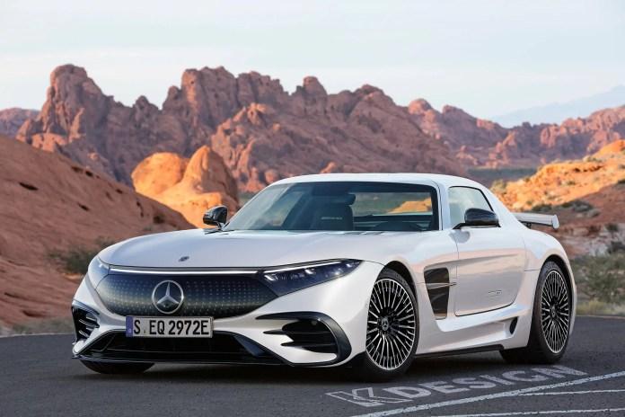 Nuova Mercedes SL 2023, il Rendering della Elettrica EQSL