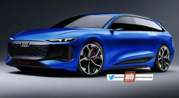 Nuova Audi RS6 Avant e-tron 2023, il Rendering dal futuro