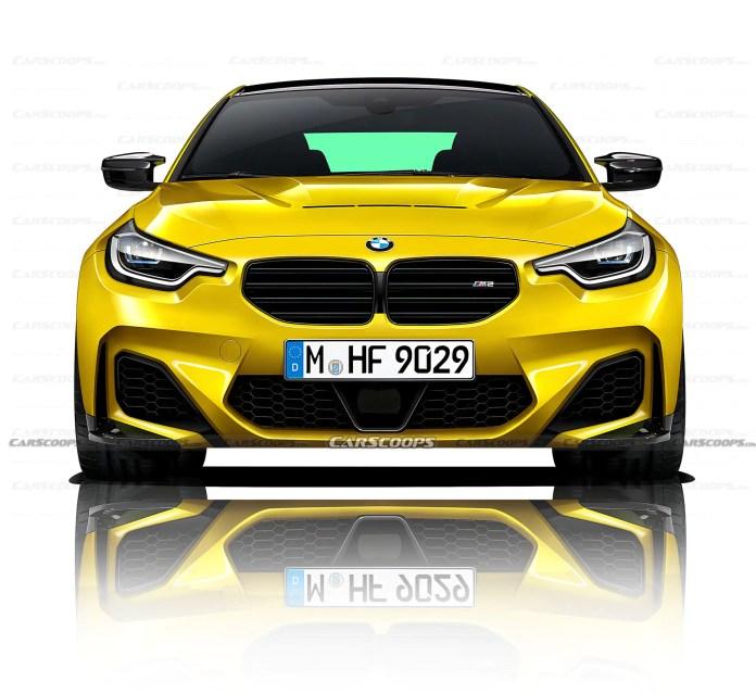 Nuova BMW M2 2022, Rendering e dati tecnici in Anteprima