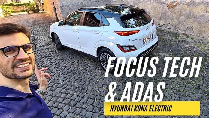 Hyundai Kona Electric 2021   FOCUS INFOTAINMENT & ADAS [VIDEO]