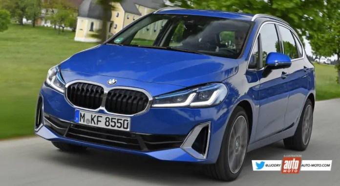 Nuova BMW Serie 2 Active Tourer 2022, il Rendering in Anteprima