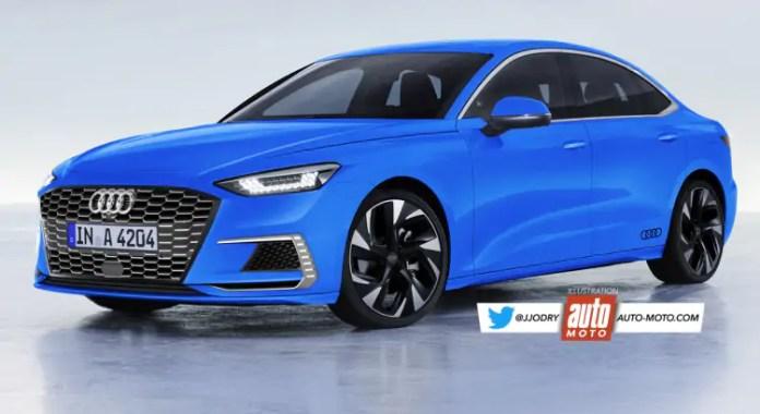 Nuova Audi A4 2023, il futuro elettrico in Rendering
