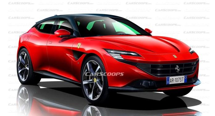 Nuova Ferrari Purosangue 2022, Rendering e Anticipazioni