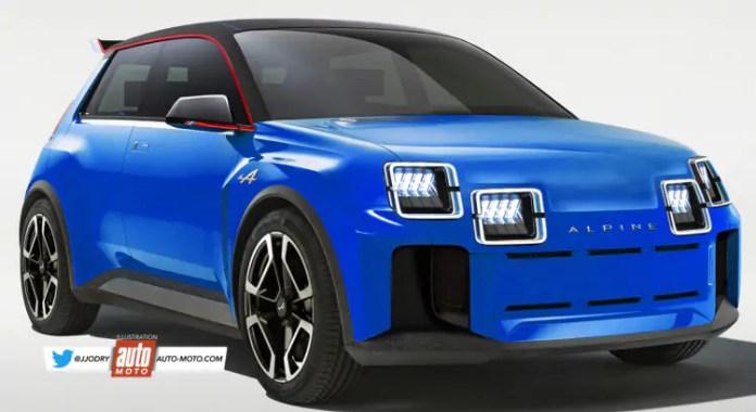 Nuova Renault 5 Alpine 2023: Rendering e Anteprima