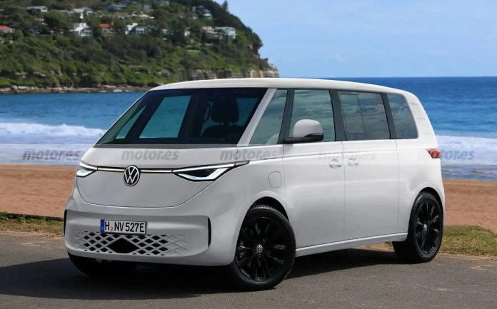 Nuovo Volkswagen ID. BUZZ 2023, il VAN elettrico in Rendering