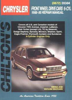 1988  1995 All 6 Cylinder Chrysler, Dodge, Plymouth