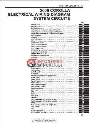 Toyota Corolla 2006 Repair Manual | Auto Repair Manual