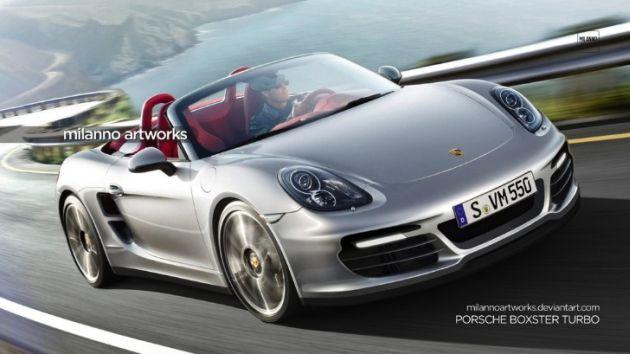 porsche_boxster_turbo_render Porsche: render per la nuova Cayman e l'inedita Boxster Turbo
