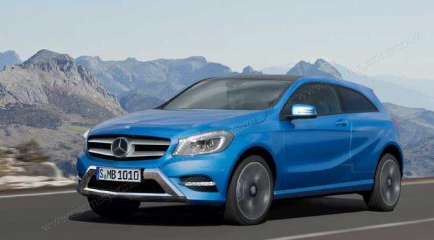 mercedes_gla_render Mercedes GLA: il render della SUV compatta