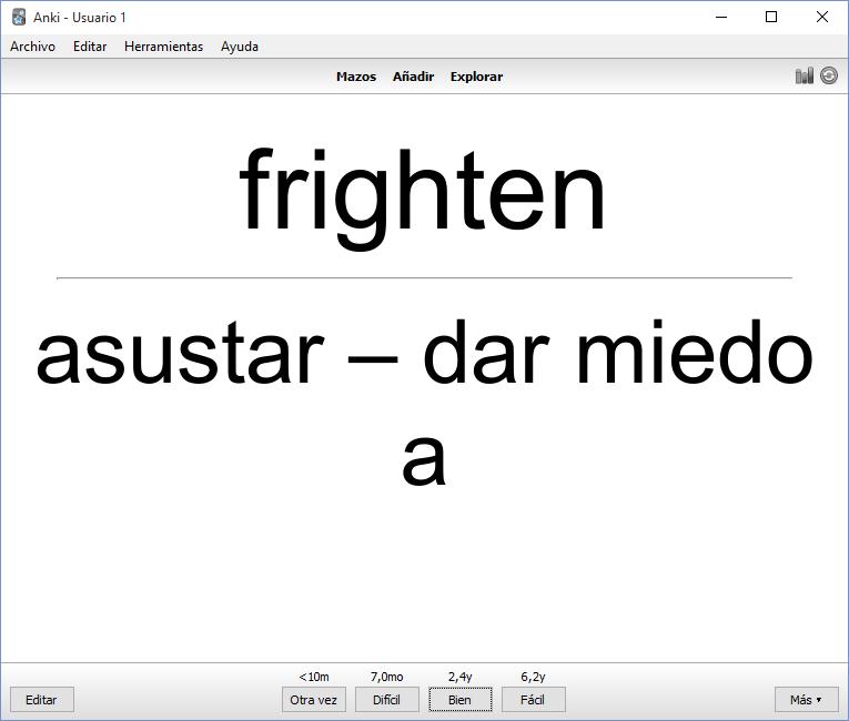 ejemplo de anki aprender idiomas