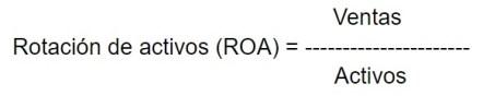 Cuál es la fórmula de la rotación de activos -