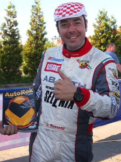 Luca Rossetti - kierowca rajdowy - team Abarth