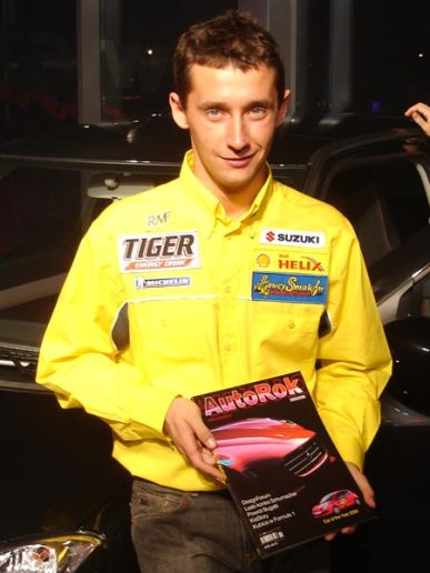 Michał Kościuszko - Rajdowy Wicemistrz Świata JWRC, aktualnie startujący Fiestą S2000 w WRC