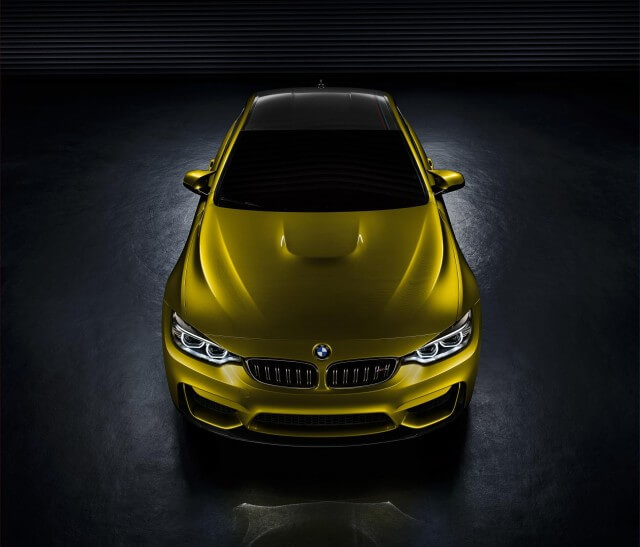BMW M4 from above