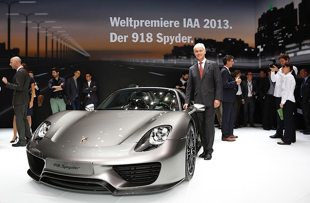 The Porsche 918 Spyder at IAA.