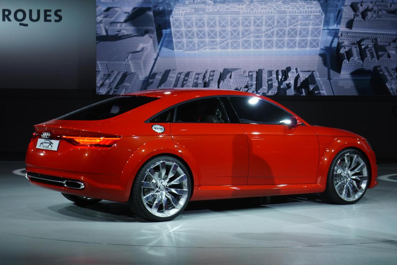 Audi Sportback Concept at the Paris Motor Show.