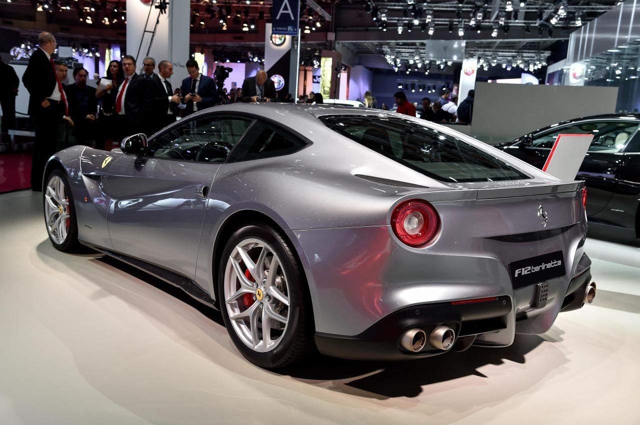 Ferrari F12 Berlinetta at the Paris Auto Show.