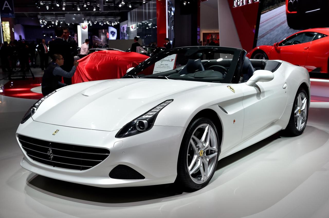Ferrari California T at the Paris Auto Show.