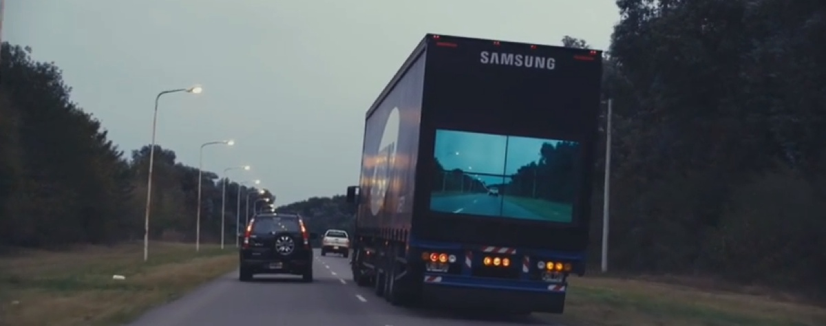 Samsung's safety truck aims to make overtaking less dangerous